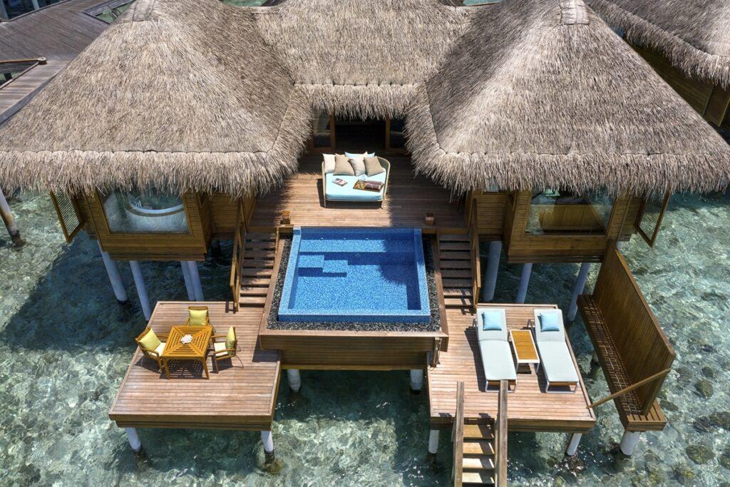 ταξίδια Μαλδίβες-Huvafen-Fushi-Ocean-Bungalow - διαμονή πάνω στο νερό